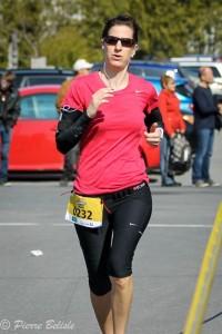 Mélanie Coupal a terminé 7e de son groupe d'âge au 10 km.